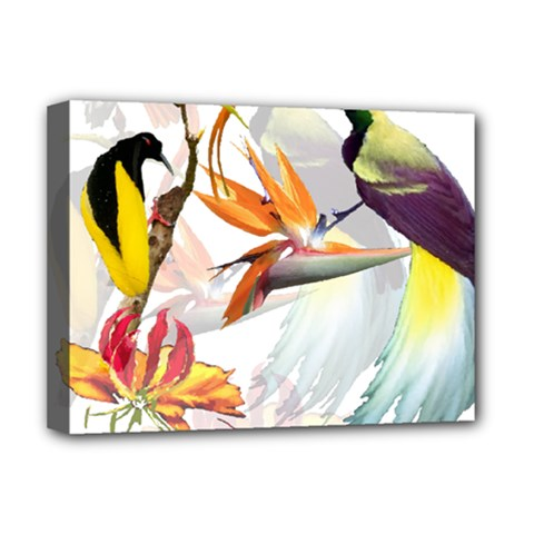 Birds Of Paradise Deluxe Canvas 16  X 12   by TKKdesignsCo