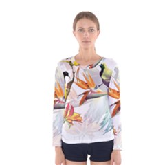 Birds Of Paradise Women s Long Sleeve Tee by TKKdesignsCo