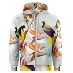 Birds Of Paradise Men s Zipper Hoodie by TKKdesignsCo
