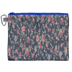 Pattern Flowers Pattern Flowers Canvas Cosmetic Bag (xxl)