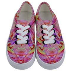 Cosmic Energy Pattern Kids  Classic Low Top Sneakers