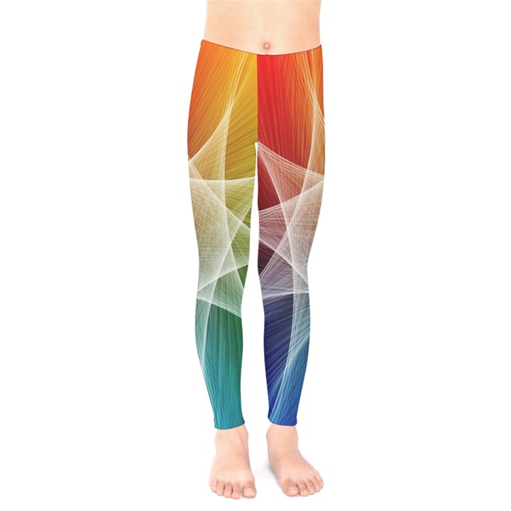 Abstract Star Pattern Structure Kids  Legging