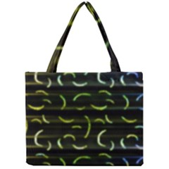 Abstract Dark Blur Texture Mini Tote Bag by dflcprints