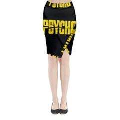 Psycho  Midi Wrap Pencil Skirt by Valentinaart