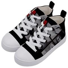 Psycho  Kid s Mid Top Canvas Sneakers by Valentinaart