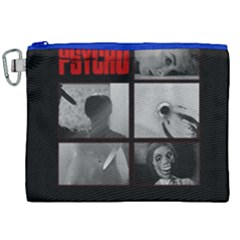 Psycho  Canvas Cosmetic Bag (xxl) by Valentinaart