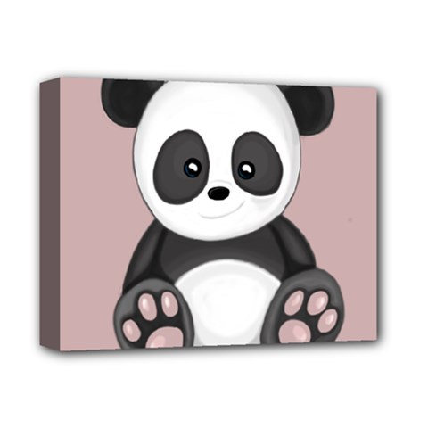 Cute Panda Deluxe Canvas 14  X 11  by Valentinaart