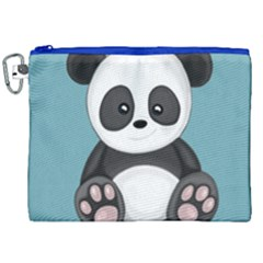 Cute Panda Canvas Cosmetic Bag (xxl) by Valentinaart