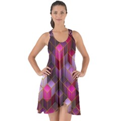 Cube Surface Texture Background Show Some Back Chiffon Dress