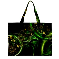 Flora Entwine Fractals Flowers Zipper Mini Tote Bag by Celenk
