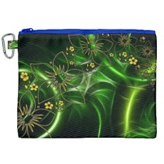 Flora Entwine Fractals Flowers Canvas Cosmetic Bag (xxl) by Celenk