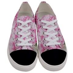 Flower Pink Art Abstract Nature Women s Low Top Canvas Sneakers
