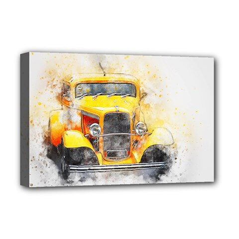 Car Old Art Abstract Deluxe Canvas 18  X 12   by Celenk
