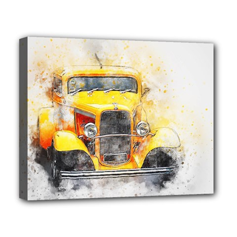 Car Old Art Abstract Deluxe Canvas 20  X 16   by Celenk
