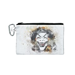Mask Party Art Abstract Watercolor Canvas Cosmetic Bag (small) by Celenk
