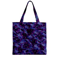 Techno Grunge Punk Zipper Grocery Tote Bag by KirstenStar