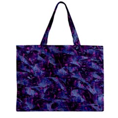 Techno Grunge Punk Zipper Mini Tote Bag by KirstenStar