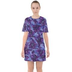 Techno Grunge Punk Sixties Short Sleeve Mini Dress by KirstenStar
