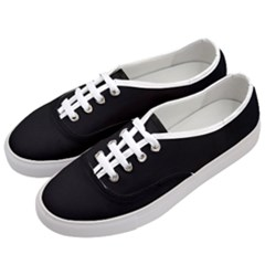 Black 1 A | Black Classic Low Top Sneakers White Laces White Eyelets by thefashionboutique