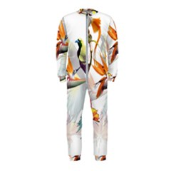 Exotic Birds Of Paradise And Flowers Watercolor Onepiece Jumpsuit (kids) by TKKdesignsCo