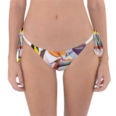 Exotic Birds Of Paradise And Flowers Watercolor Reversible Bikini Bottom by TKKdesignsCo