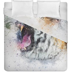 Tiger Roar Animal Art Abstract Duvet Cover Double Side (king Size) by Celenk