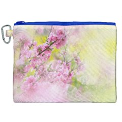 Flowers Pink Art Abstract Nature Canvas Cosmetic Bag (xxl) by Celenk