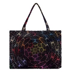 Background Grid Art Abstract Medium Tote Bag by Celenk