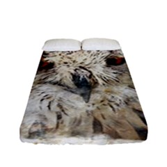 Bird Owl Animal Art Abstract Fitted Sheet (full/ Double Size) by Celenk