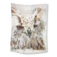 Bird Owl Animal Art Abstract Medium Tapestry