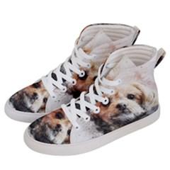 Dog Animal Pet Art Abstract Men s Hi Top Skate Sneakers by Celenk