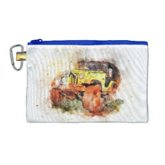 Car Old Car Fart Abstract Canvas Cosmetic Bag (large) by Celenk