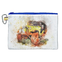 Car Old Car Fart Abstract Canvas Cosmetic Bag (xl) by Celenk