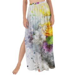 Flowers Vase Art Abstract Nature Maxi Chiffon Tie Up Sarong