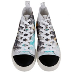 Dog Animal Art Abstract Watercolor Men s Mid Top Canvas Sneakers