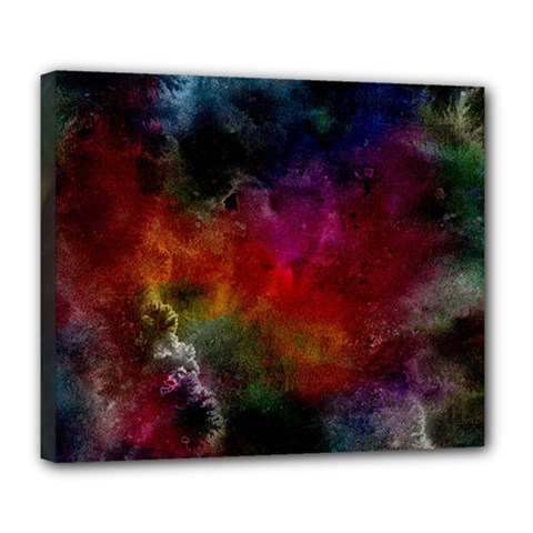 Abstract Picture Pattern Galaxy Deluxe Canvas 24  X 20   by Celenk