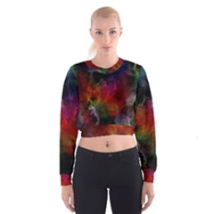 Abstract Picture Pattern Galaxy Cropped Sweatshirt by Celenk