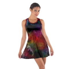 Abstract Picture Pattern Galaxy Cotton Racerback Dress