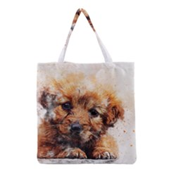 Dog Puppy Animal Art Abstract Grocery Tote Bag