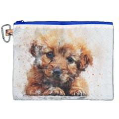Dog Puppy Animal Art Abstract Canvas Cosmetic Bag (xxl) by Celenk