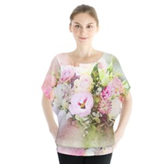 Flowers Bouquet Art Abstract Blouse