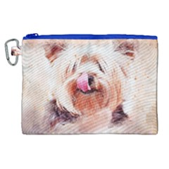 Dog Animal Pet Art Abstract Canvas Cosmetic Bag (xl) by Celenk