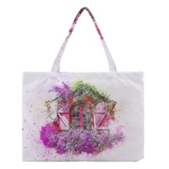 Window Flowers Nature Art Abstract Medium Tote Bag by Celenk