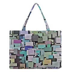 Background Painted Squares Art Medium Tote Bag by Celenk
