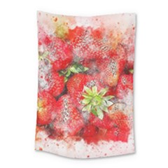 Strawberries Fruit Food Art Small Tapestry by Celenk