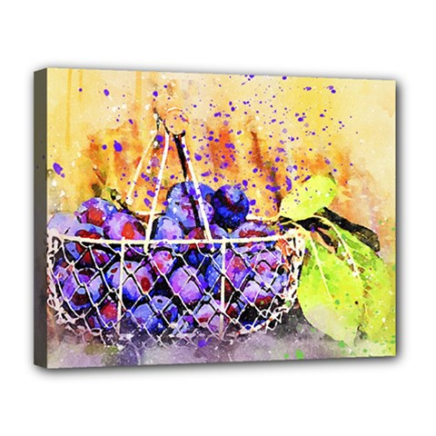 Fruit Plums Art Abstract Nature Canvas 14  X 11  by Celenk