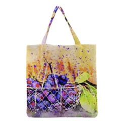 Fruit Plums Art Abstract Nature Grocery Tote Bag by Celenk