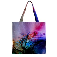 Lizard Reptile Art Abstract Animal Zipper Grocery Tote Bag by Celenk