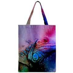 Lizard Reptile Art Abstract Animal Zipper Classic Tote Bag by Celenk