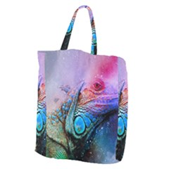 Lizard Reptile Art Abstract Animal Giant Grocery Zipper Tote by Celenk